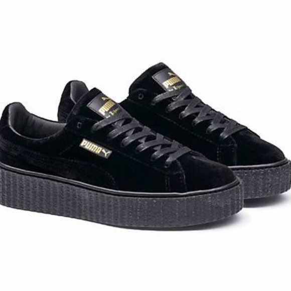 buy popular 8a771 782ff PUMA Rihanna Fenty Velvet Women's Creeper- Black